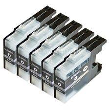 5 Brother Patronen black LC1240 XL für DCP J525W J725DW J925DW MFC J430W J835DW