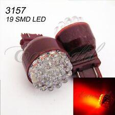 3157 Red Round 19 LED 2x Bulb #St77 P27/7W 3057 3457 4157 T25 Stop Brake Light