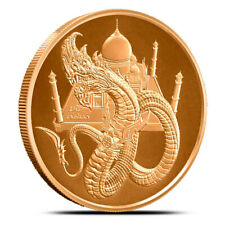1 oz Copper Round - The Indian | World of Dragons Series