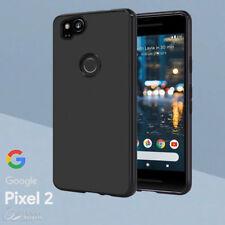 Black Matte Gel TPU Skin Jelly Soft Case Cover For Google Pixel 2 / Pixel 2 XL