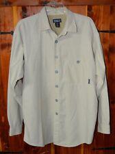Men's PATAGONIA Tan Canvas long sleeve shirt size large