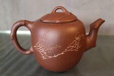 Théière Chine signée en terre cuite argile Yixing tea-pot