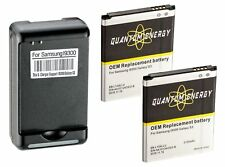 QUANTUM ENERGY 2x Batteries i9300 + Charger for Samsung Galaxy S3 (2yr Warranty)