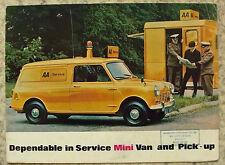 MORRIS MINI VAN & PICK UP Sales Brochure Apr 1970 #2707