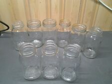 9 Vintage Ball & KERR Perfect Mason Quart Jars CANNING GLASS CLEAR