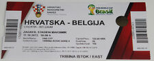 Ticket for collectors World Cup q * Croatia Belgium 2013 Zagreb