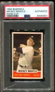 1962 Bazooka Mickey Mantle Hand Cut #23 Authentic *RARE*