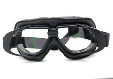 Aviator Motorcycle&Bicycle Scooter ATV Goggles Eyewear Tactical Goggle Black