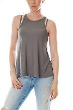 Brand New Free People Long Beach Women Tank Grey Size XS Sleeveless New BCF57