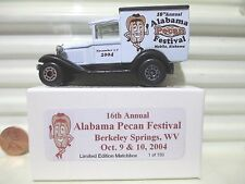 Matchbox 2004 16th Annual ALABAMA PECAN FESTIVAL WV Model A Ford Van Nu MintBoxd