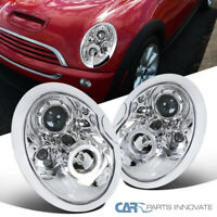 02-05 Mini Cooper S Clear Lens Halo Projector Headlights Head Lamps Left+Right