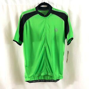 Canari Mens Optic Streamline Jersey Short Sleeve Mesh Full Zip Pockets Green L