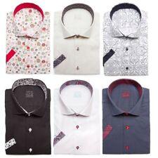 Cotton Blend Big & Tall Short Sleeve Men's Formal Shirts