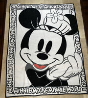 "Biederlack Disney Minnie Mouse Reversible Blanket Throw 55""x72"" Made In Spain"