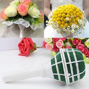 1X Foam Bride Bouquet Handle Wedding Bridal Floral Flower Holder Party Decora