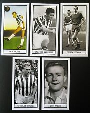 Group of 5 WEST BROMWICH ALBION Memory Lane UK football trade cards HOWE KEVAN++