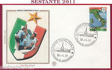 ITALIA FDC FILAGRANO GOLD NAPOLI CAMPIONE D'ITALIA 1989  90 1990 ANN. TORINO T73