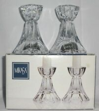 "Mikasa Metro Flair 4"" Crystal Candle Holders Sticks"