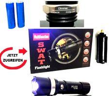 Swat Led Cree Leuchtkraft Zoom Leuchtweite mit 2x Power Akkus+USB-Kabel Lampe