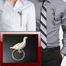 Grouse Pewter R26 Pin Brooch Drop Hoop Holder Glasses,Pen,Jewellery