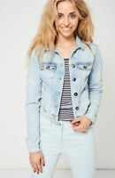 TOPSHOP LADIES WOMENS CROPPED BLUE DENIM JACKETS - SIZE 10 12 14 16 18