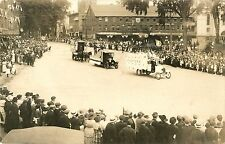 A View of the Floats In The Labor Day Parade, Keene NH RPPC 1920