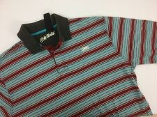 Ecko Unltd Polo Shirt Mens Size XL Striped Multi Color Rhino
