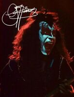 Kiss Gene Simmons 8x11 Photo Autographed Dr Love Beacon Theater 1975