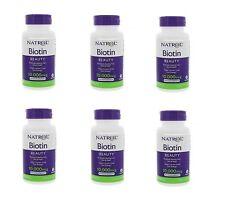 Natrol Biotin 10,000 Mcg Maximum Strength 600 Tablets 6 Pack Exp 09-30-2019