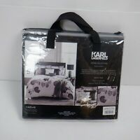 Karl Lagerfeld Senna Floral 220 Cotton Thread Count Double Duvet Cover *NEW*