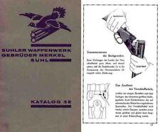 Merkel 1932 Gebruder Gun Catalog