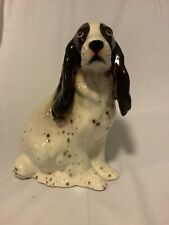 Springer Spaniel Figurine Hand Painted In Italy