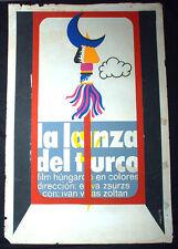 "1975 Original Cuban Movie Poster""The SPEAR of the TURK""Lanza del turco.Film art."