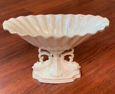 Lenox Aquarius Ivory 24 Kt Gold Trim Pedestal Bowl Dish Centerpiece Dolphins