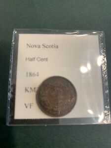 Nova Scotia Half Cent 1864 VF