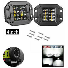 15°Spot &90° Flood LED Pods Flush Mount Driving lights Work Lights Truck 4x4 SUV