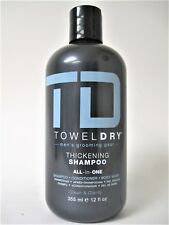 TD Towel Dry Men's Grooming Thickening Shampoo Fine Hair 12 oz