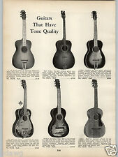 1938 PAPER AD Hawaiian Guitar Halekala Decorated Scenes Palm Tree Ocean