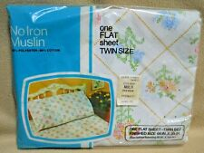 Vintage J C Penney Twin Flat Sheet / Floral Design / New