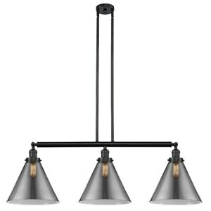 Innovations F XL Cone 3-LT LED Island, BK Colorful/Cone - 213-BK-G43-L-LED