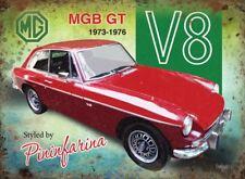 15x20cm MGB GT V8 classic sports car metal advertising wall sign
