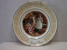 Collectable Betsy Ross Plate & Wall Hanger - Made in England