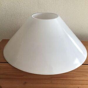 White glass cone shaped light shade
