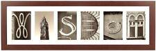 """WISDOM"" Framed Wall Art.6-Opening,White Matt. Wood Frame with Glass"