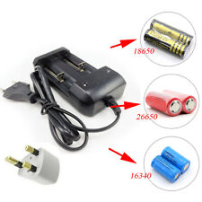 Black Universal Battery Charger for Li-ion Batteries 18650 26650 16340 14500 NEW