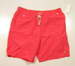 Polo Ralph Lauren Big & Tall Men's Peaceful Coral Pink Solid Swim Trunks