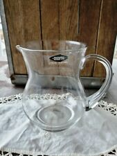 Vintage Nuutajarvi Finland Clear Glass Pitcher
