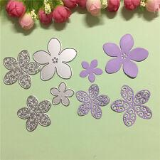 Metal 4 Flower Cutting Dies Stencils DIY Scrapbooking Album Paper Card Craft