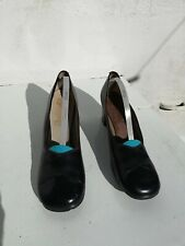 SHOES by Malone Fashion Casies Blue Leather Upper Vintage 1970s