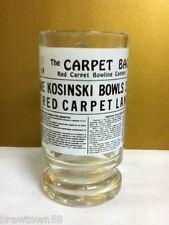 The Carpet Bag Red Carpet bowling centers 1 beer cocktail drink glass mug PJ8
